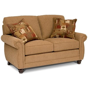 Traditional Loveseat with Turned Feet