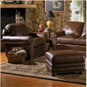 Smith Brothers 309 Casual Upholstered Chair and Ottoman Set - Item Number: 309 C L+O L
