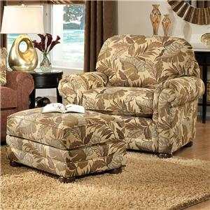 Smith Brothers 309 Casual Upholstered Chair and Ottoman Set