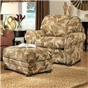 Smith Brothers 309 Casual Upholstered Chair and Ottoman Set - Item Number: 309 C+O