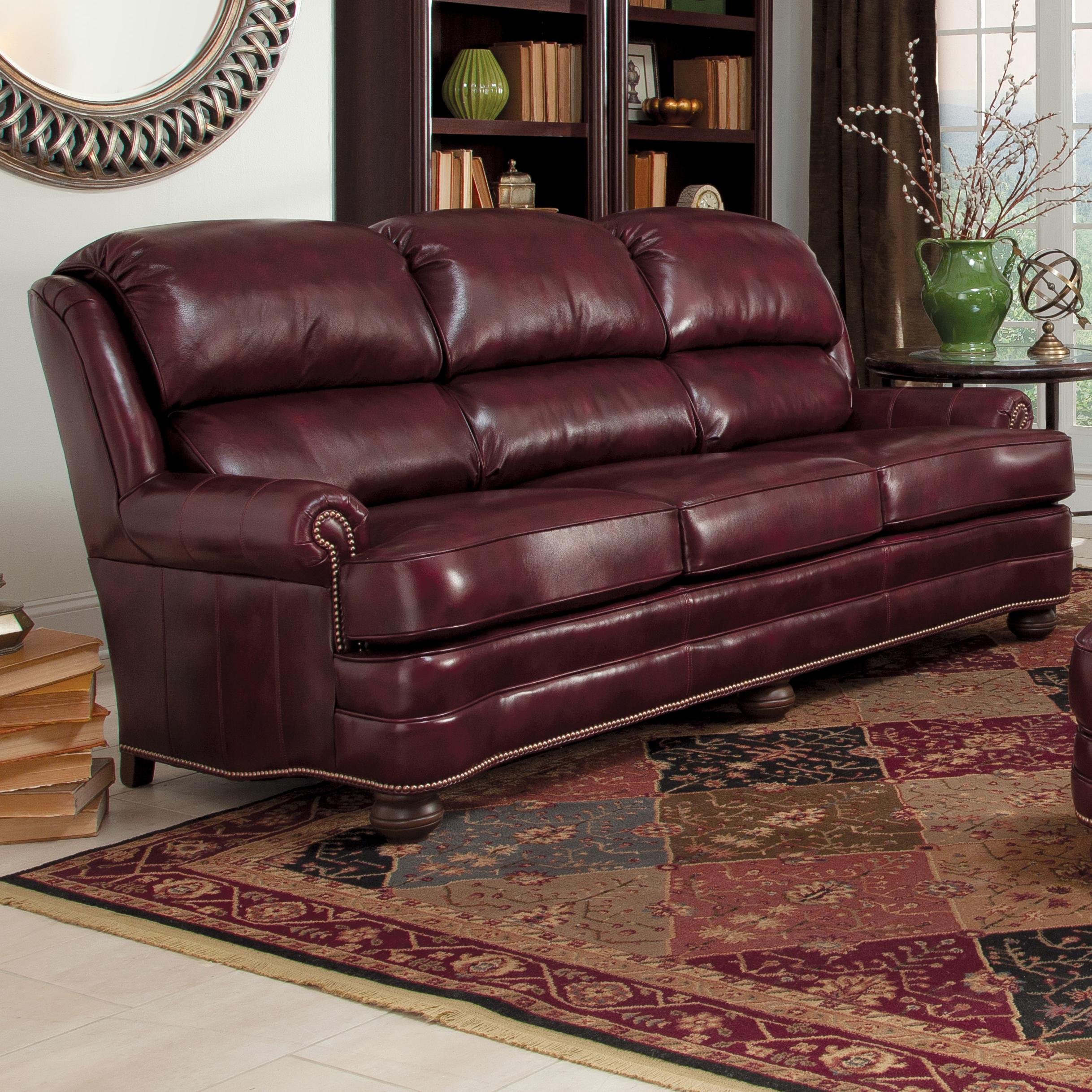 Incroyable Upholstered Leather Stationary Sofa