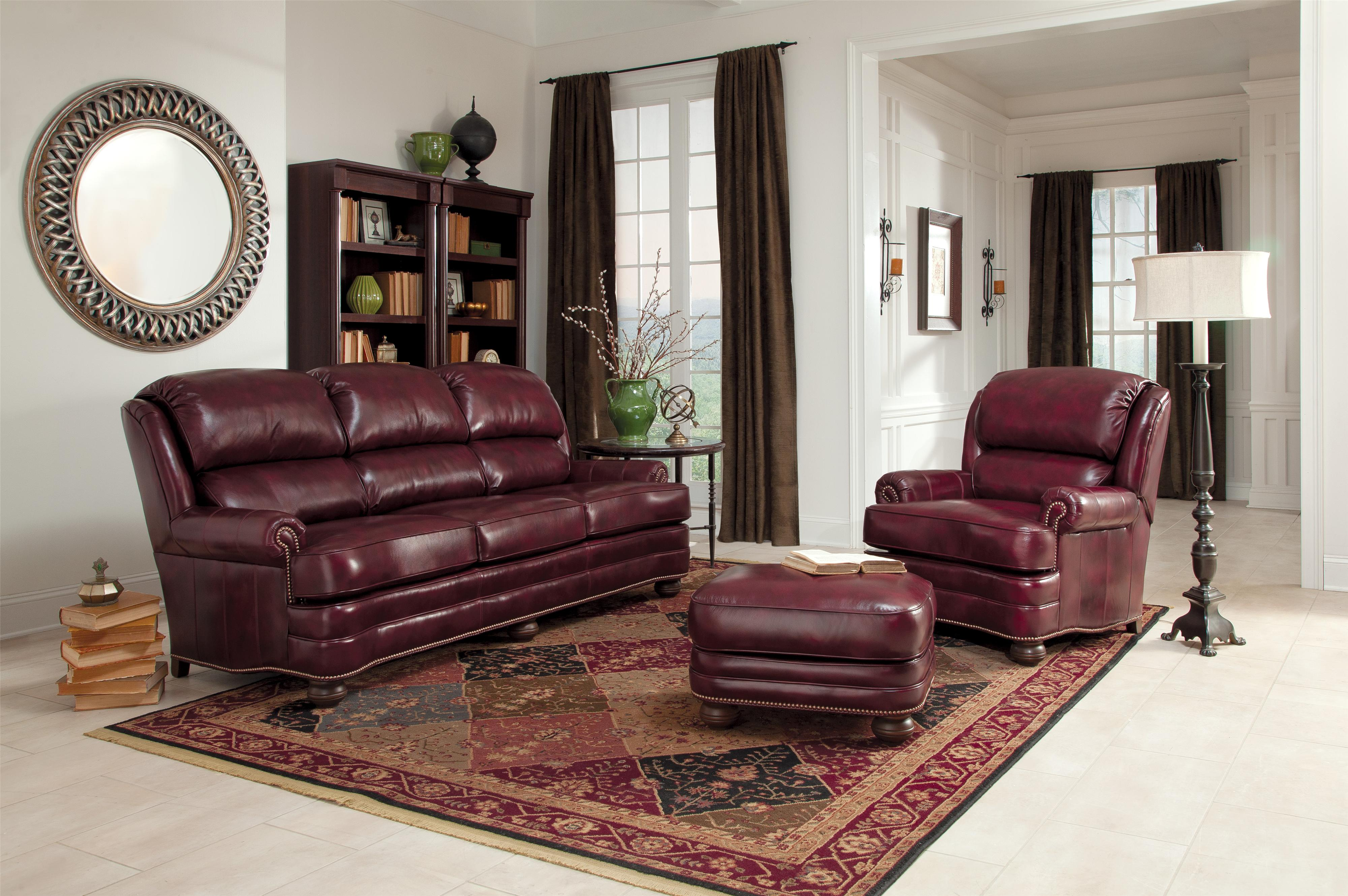 Upholstered Leather Chair By Smith Brothers Wolf Furniture