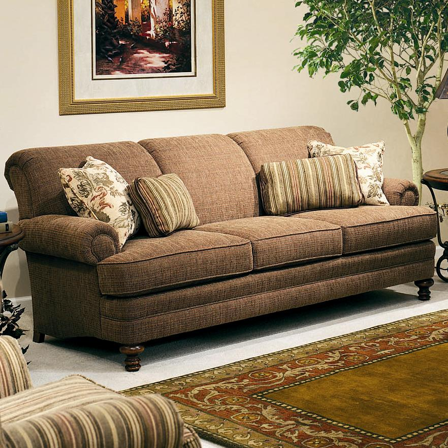 Upholstered Stationary Sofa By Smith Brothers Wolf Furniture