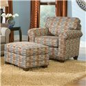 Smith Brothers 366 Casual Chair and Ottoman - Item Number: 366 C+O