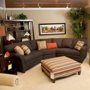 Casual 3-piece Sectional with Wedge