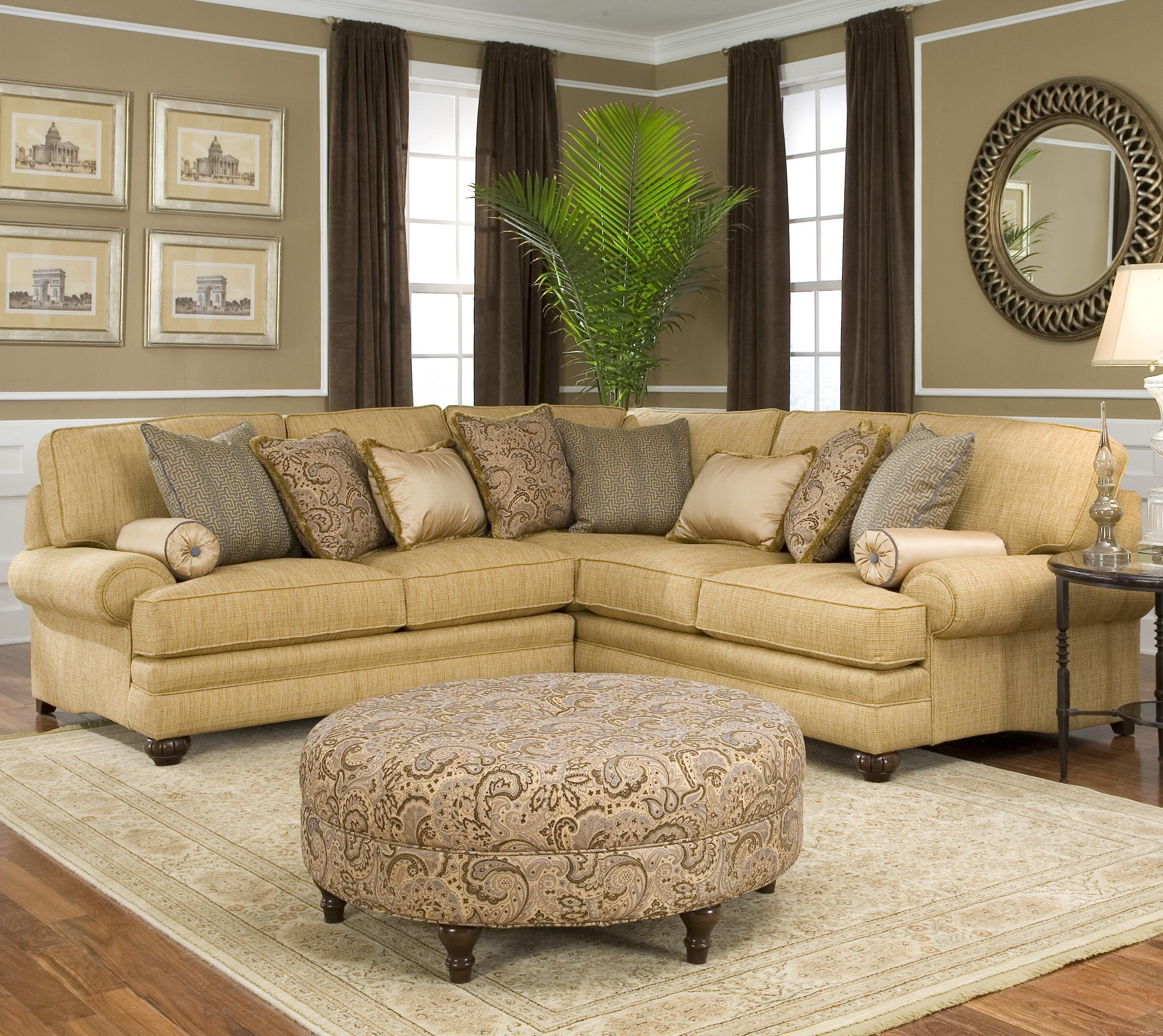 Traditional Styled Corner Sectional Sofa by Smith Brothers