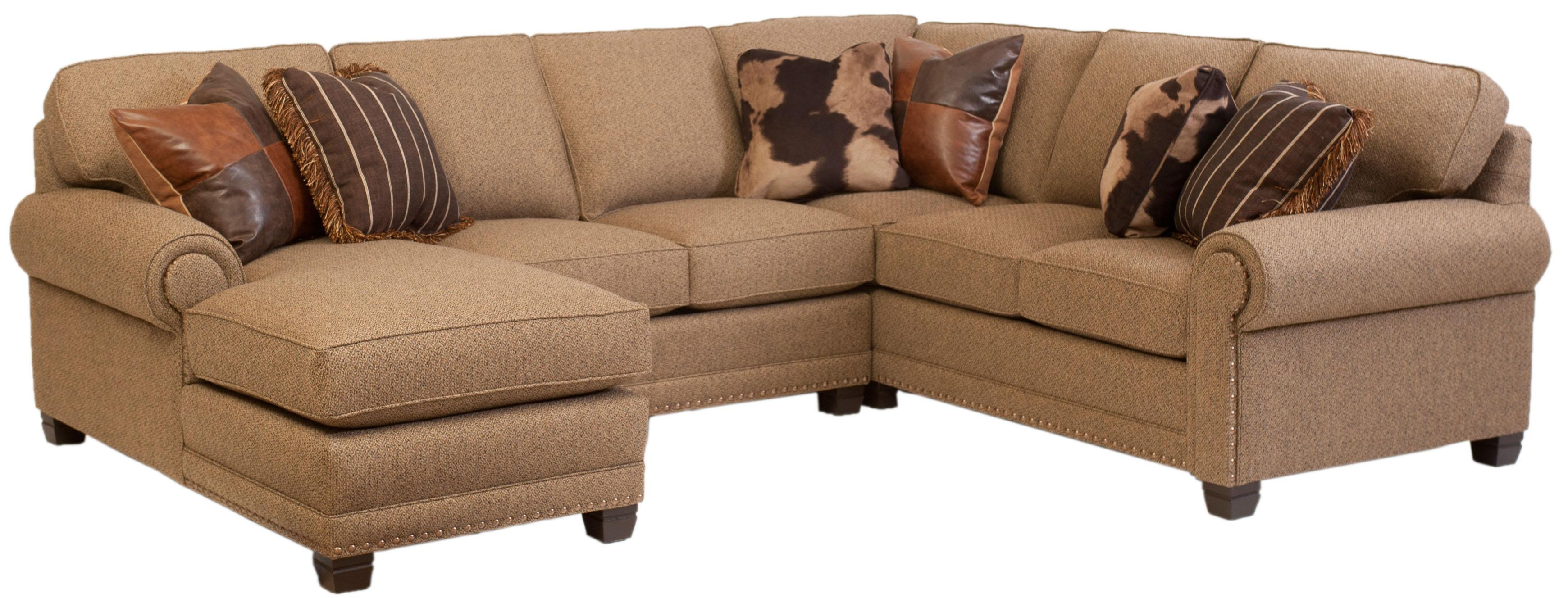 Traditional 3 piece Sectional Sofa with Left Arm Facing Chaise by