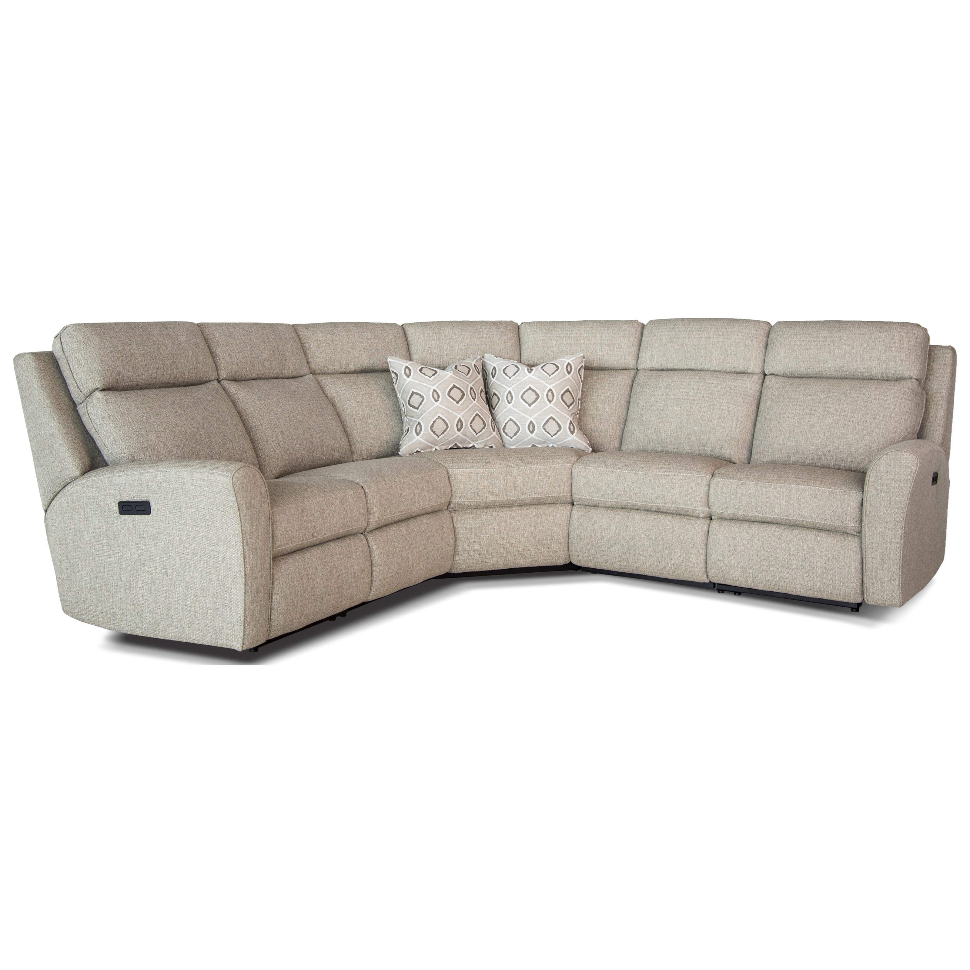 Terrific Casual Motorized Reclining Sectional Sofa With Flared Arms Gmtry Best Dining Table And Chair Ideas Images Gmtryco