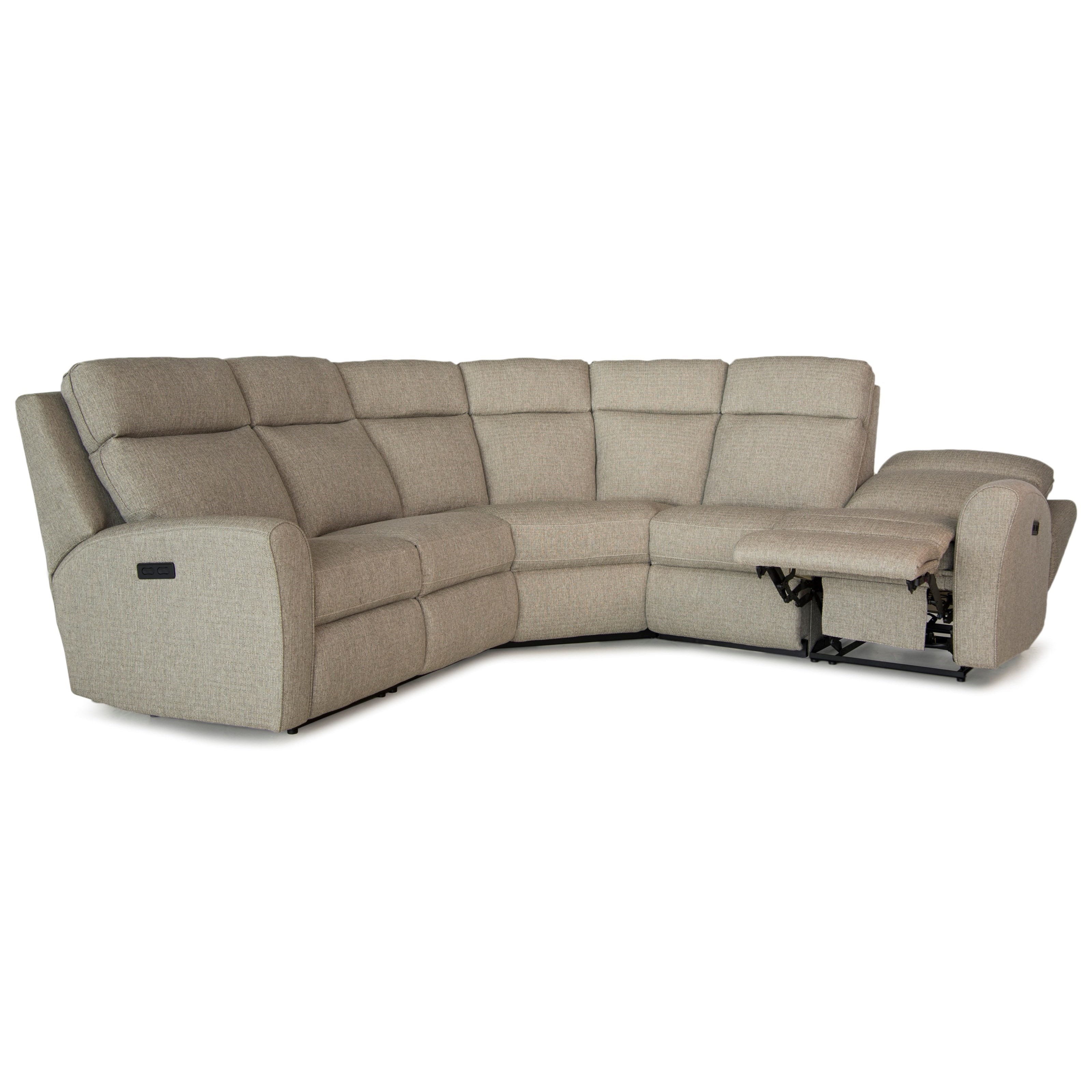 Awe Inspiring Casual Motorized Reclining Sectional Sofa With Flared Arms Gmtry Best Dining Table And Chair Ideas Images Gmtryco