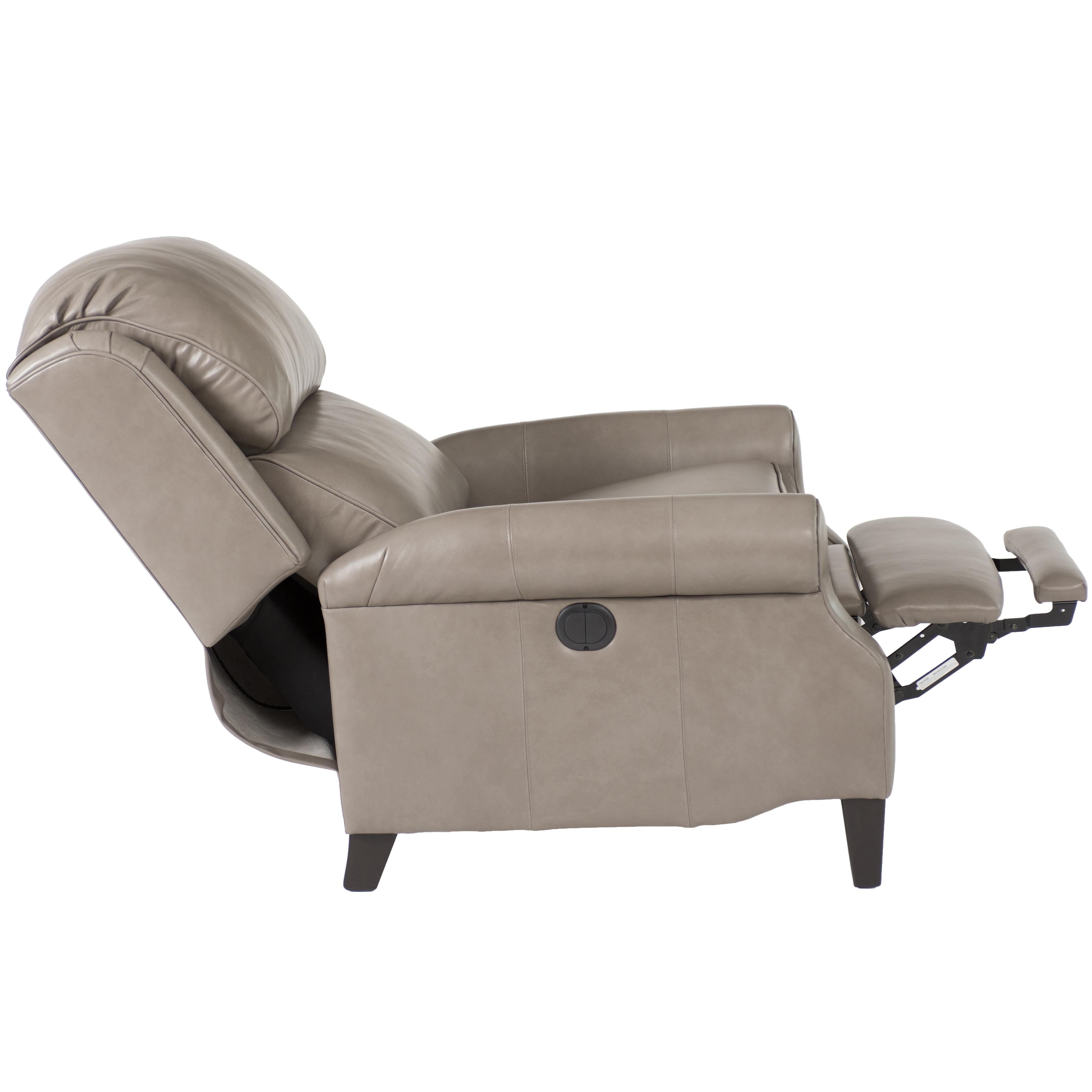 Traditional Leather Big and Tall Pressback Reclining Chair with