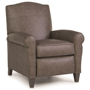 Casual Pressback Reclining Chair with Sock Arms