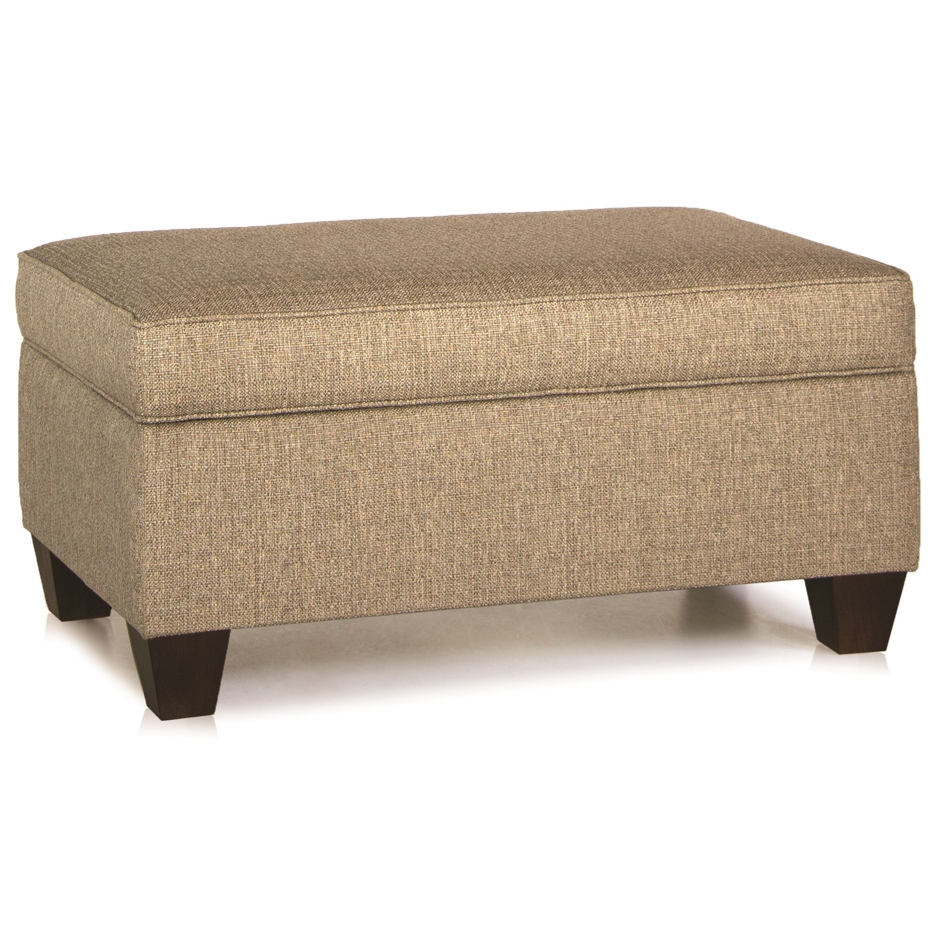 Charmant Storage Ottoman With Tapered Wood Legs