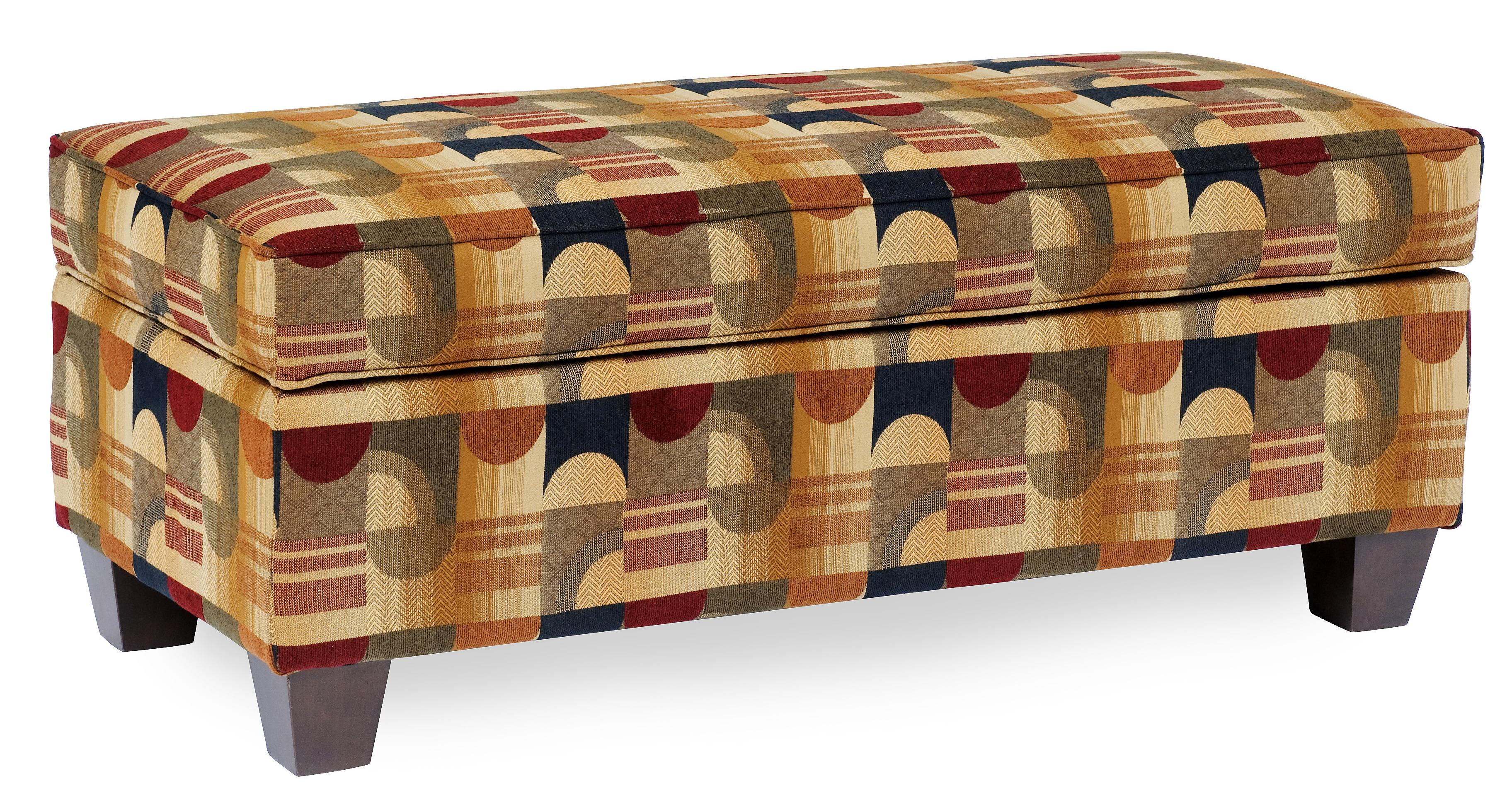 Beau Rectangular Storage Ottoman With Tapered Legs