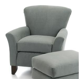 Upholstered Chair w/ Flared Arms