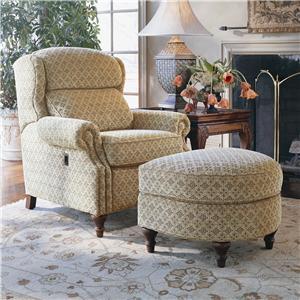 Smith Brothers 932 Tilt-Chair and Ottoman