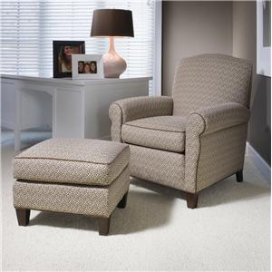 Smith Brothers 933 Upholstered Chair & Ottoman