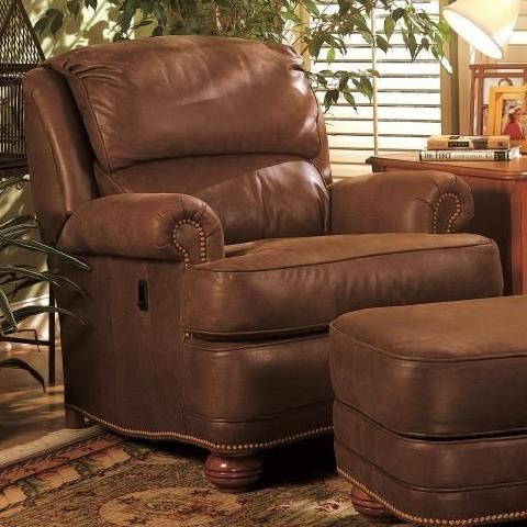Tilt Back Reclining Upholstered Chair By Smith Brothers