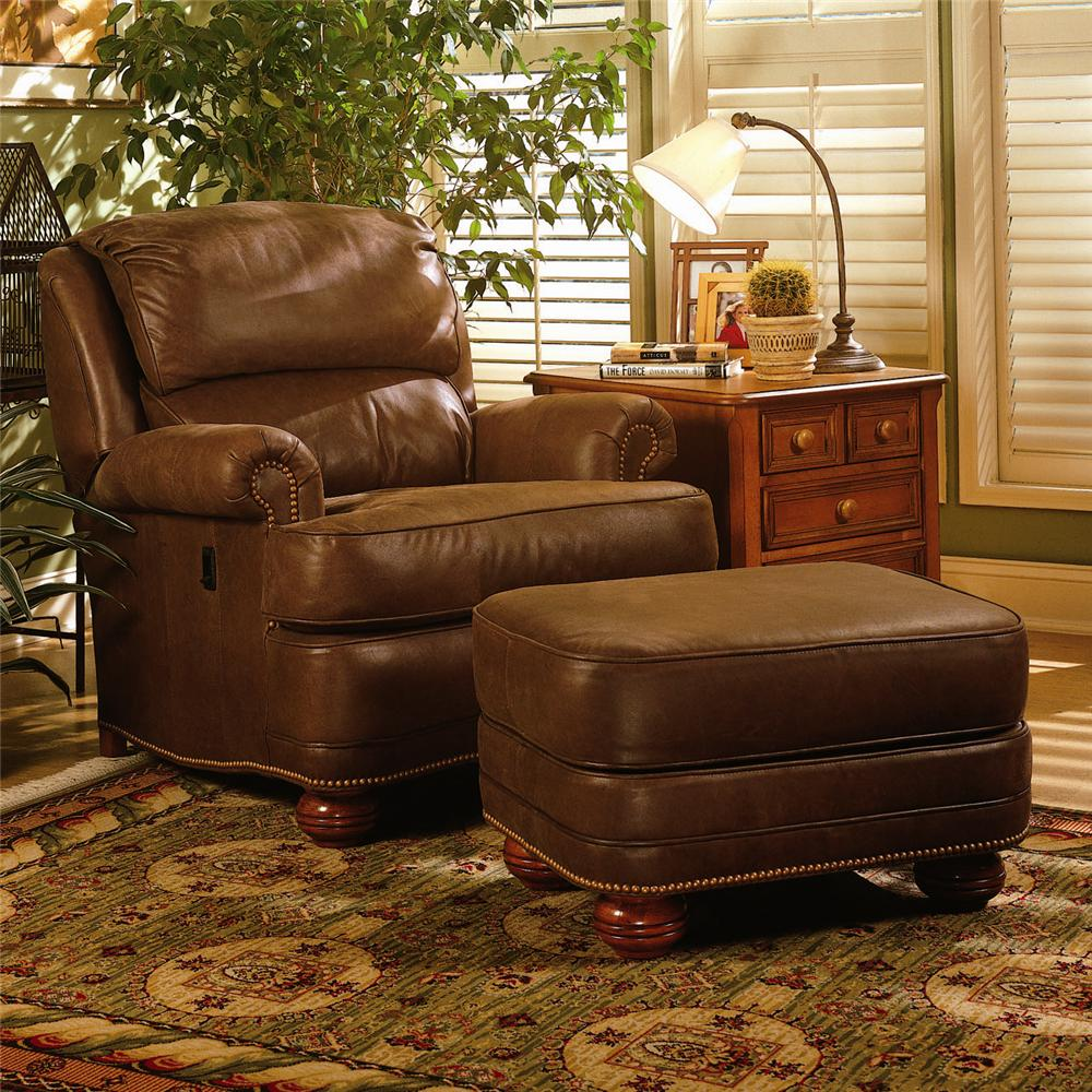 Upholstered TiltBack Reclining Chair Ottoman by Smith Brothers – Reclining Chairs with Ottomans