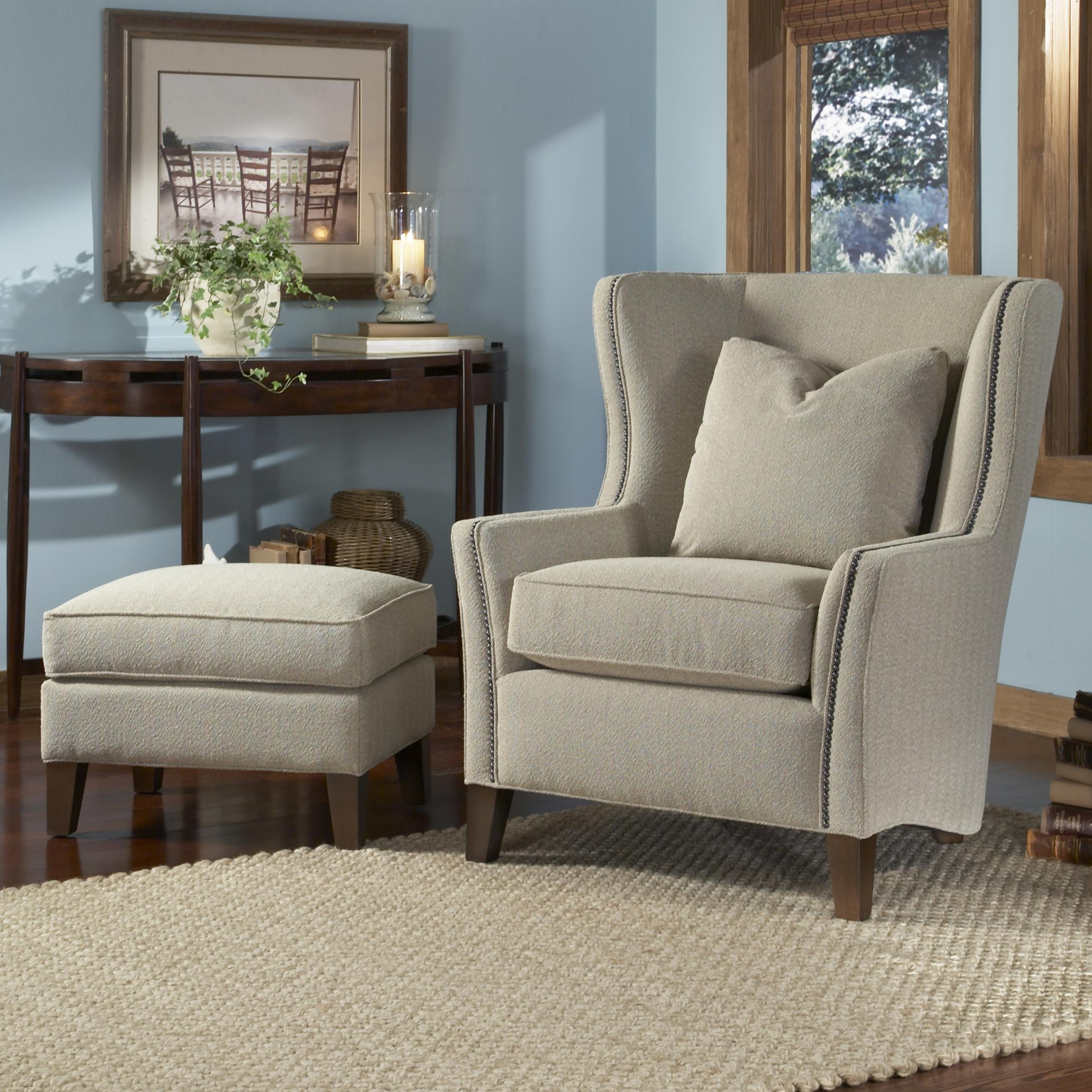20 Inch Seat Heigh Accent Chair: Contemporary Wingback Chair With Track Arms By Smith