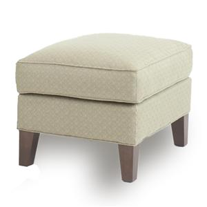 Furniture Legs For Ottomans square cocktail ottoman with tapered block legssmith brothers