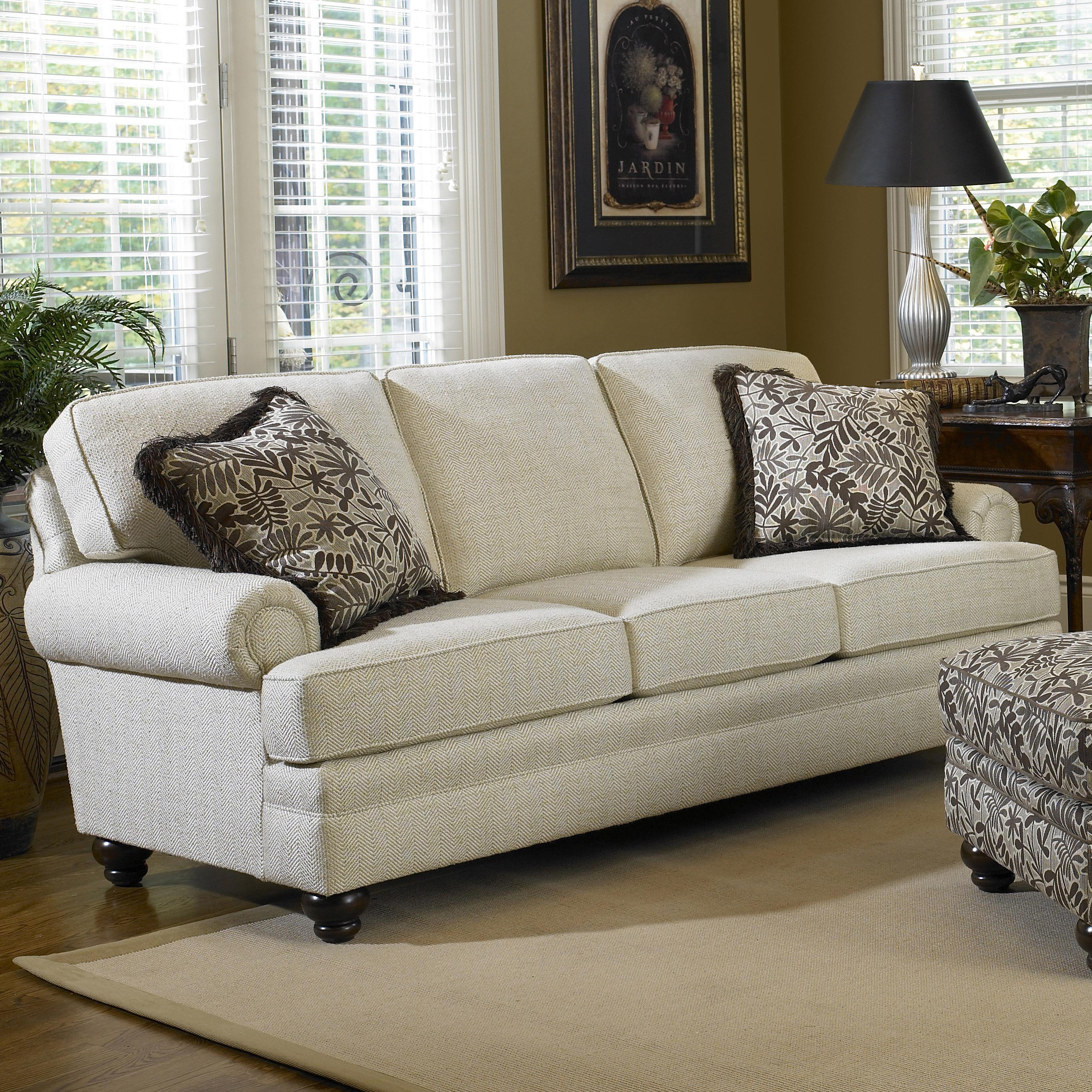 Sofa With Turned Legs By Smith Brothers Wolf And