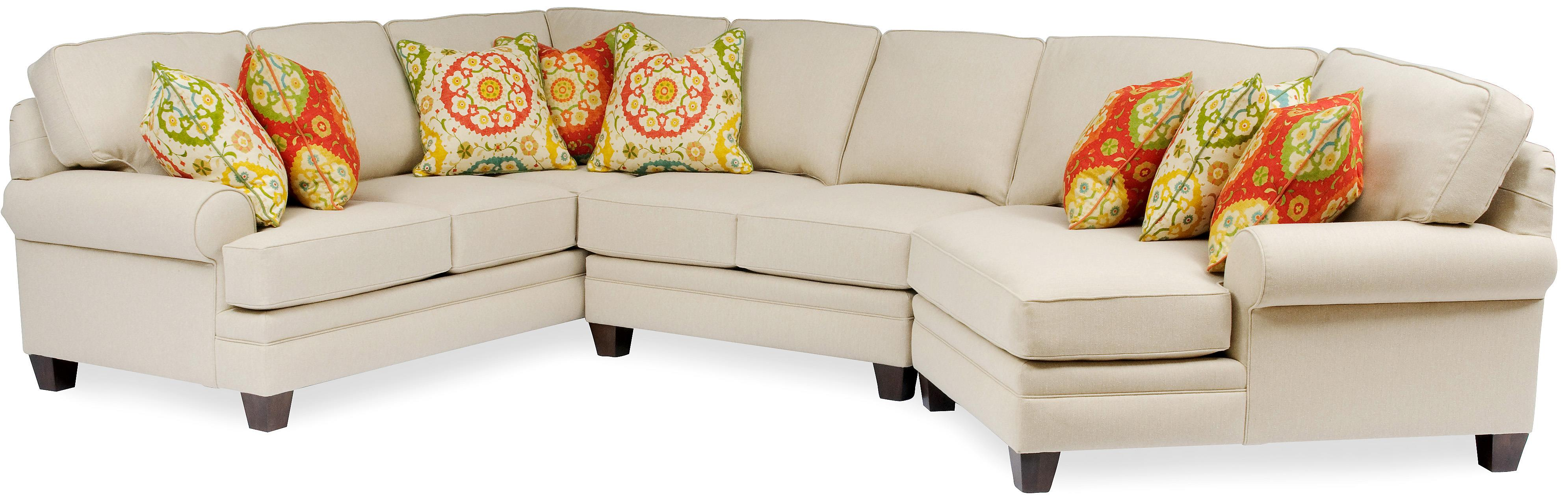 Sectional with Rolled Arms by Smith Brothers