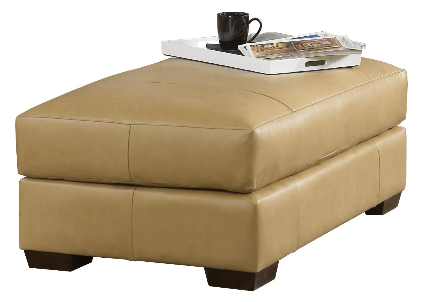 Build An Ottoman Contemporary Ottoman With Top Stitch Tailoring By Smith Brothers