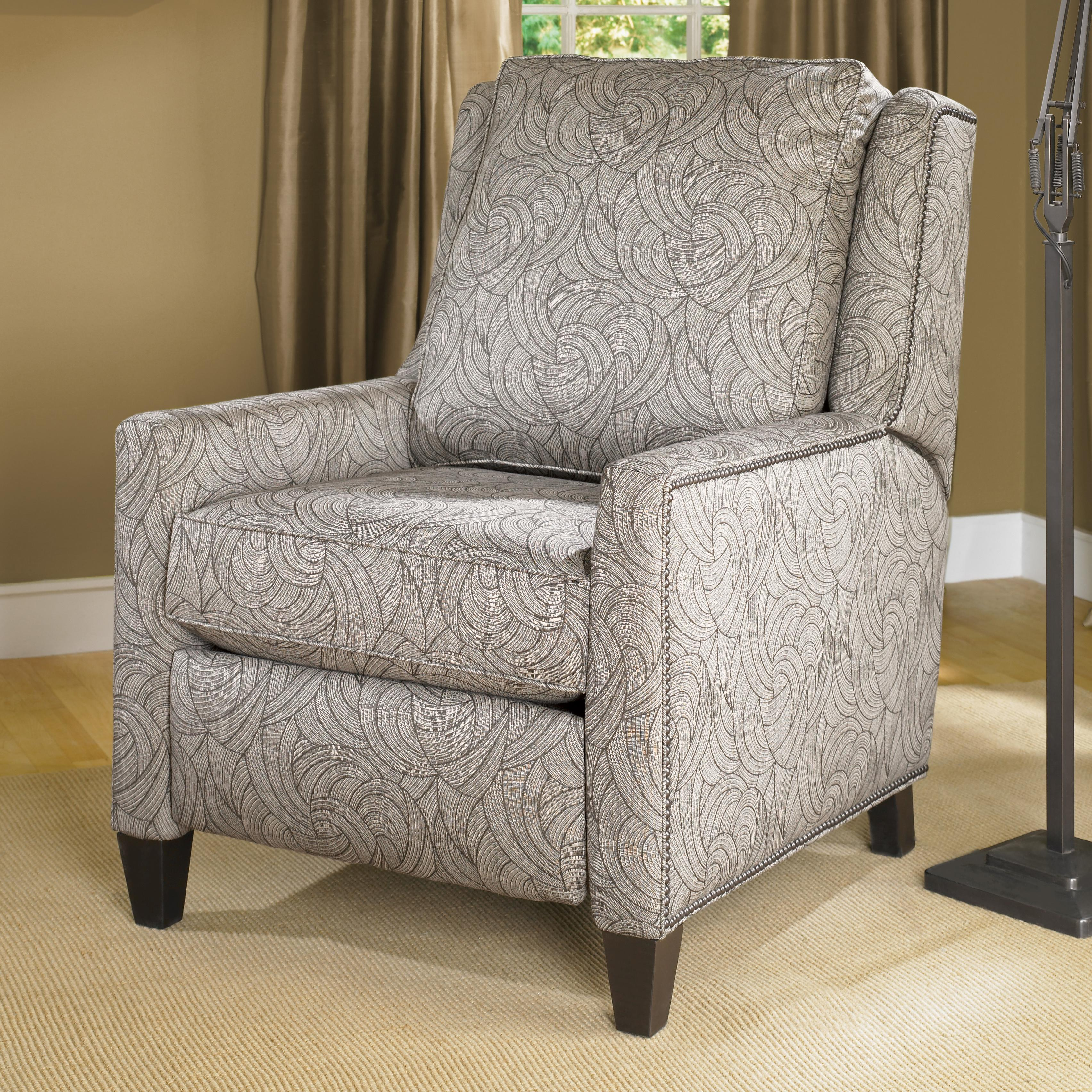 Transitional Power Reclining Chair With Nailhead Trim By
