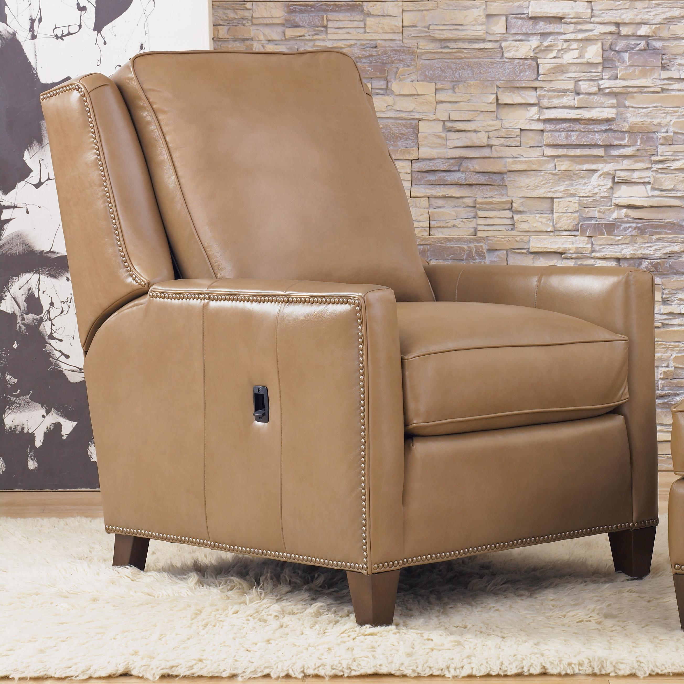 Transitional Power Reclining Chair With Nailhead Trim