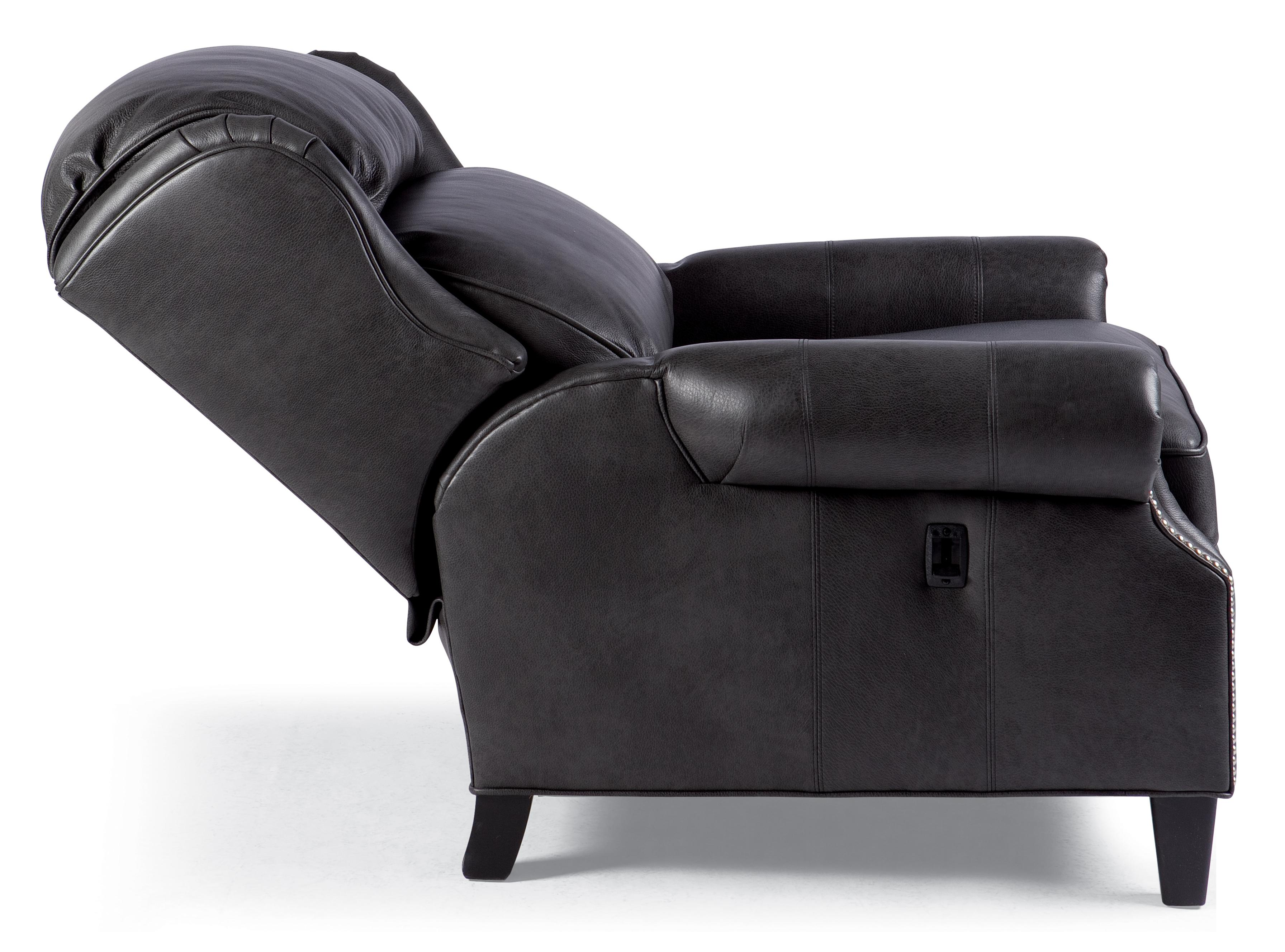 Big Tall Motorized Reclining Chair with Nailhead Trim by Smith