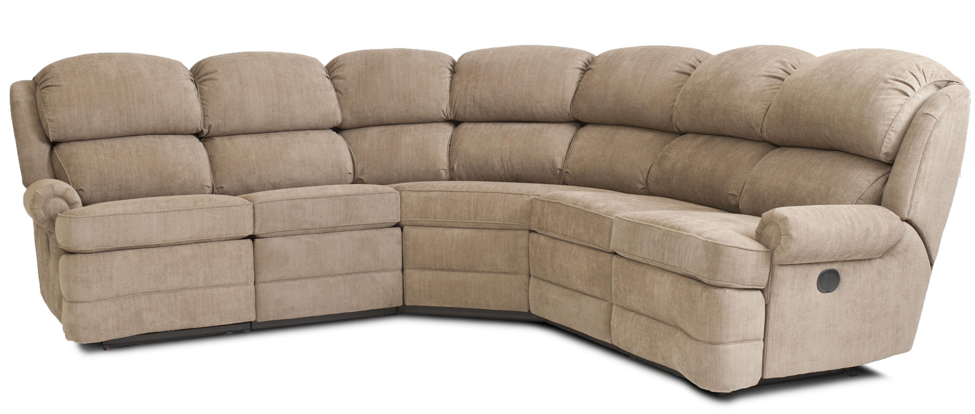 Transitional 5 Piece Reclining Sectional Sofa with Small Rolled