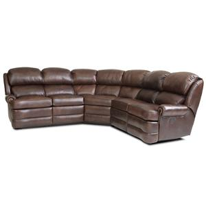 Transitional 5 Piece Reclining Sectional Sofa With Small Rolled Arms