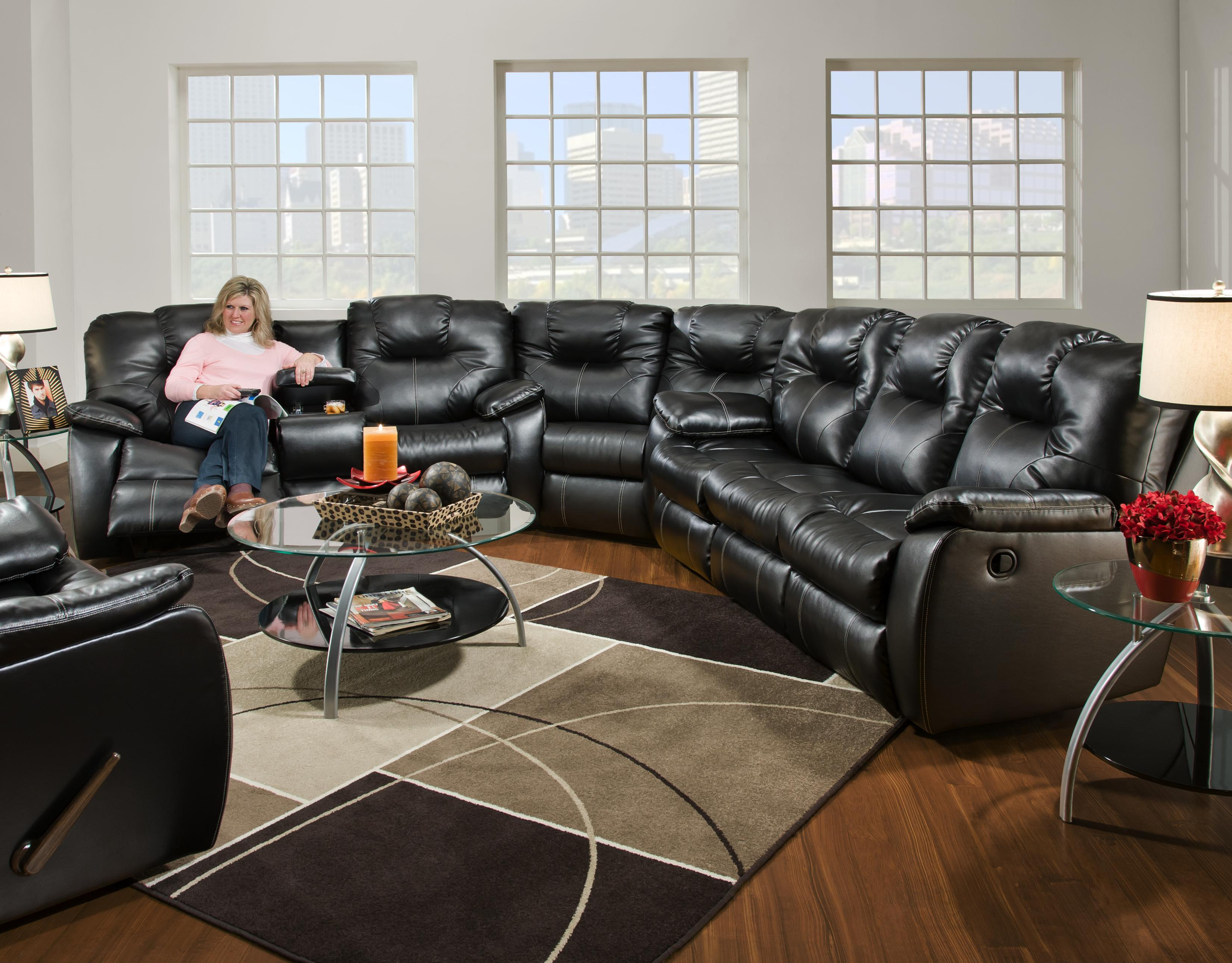 Three Piece Sectional Sofa by Southern Motion