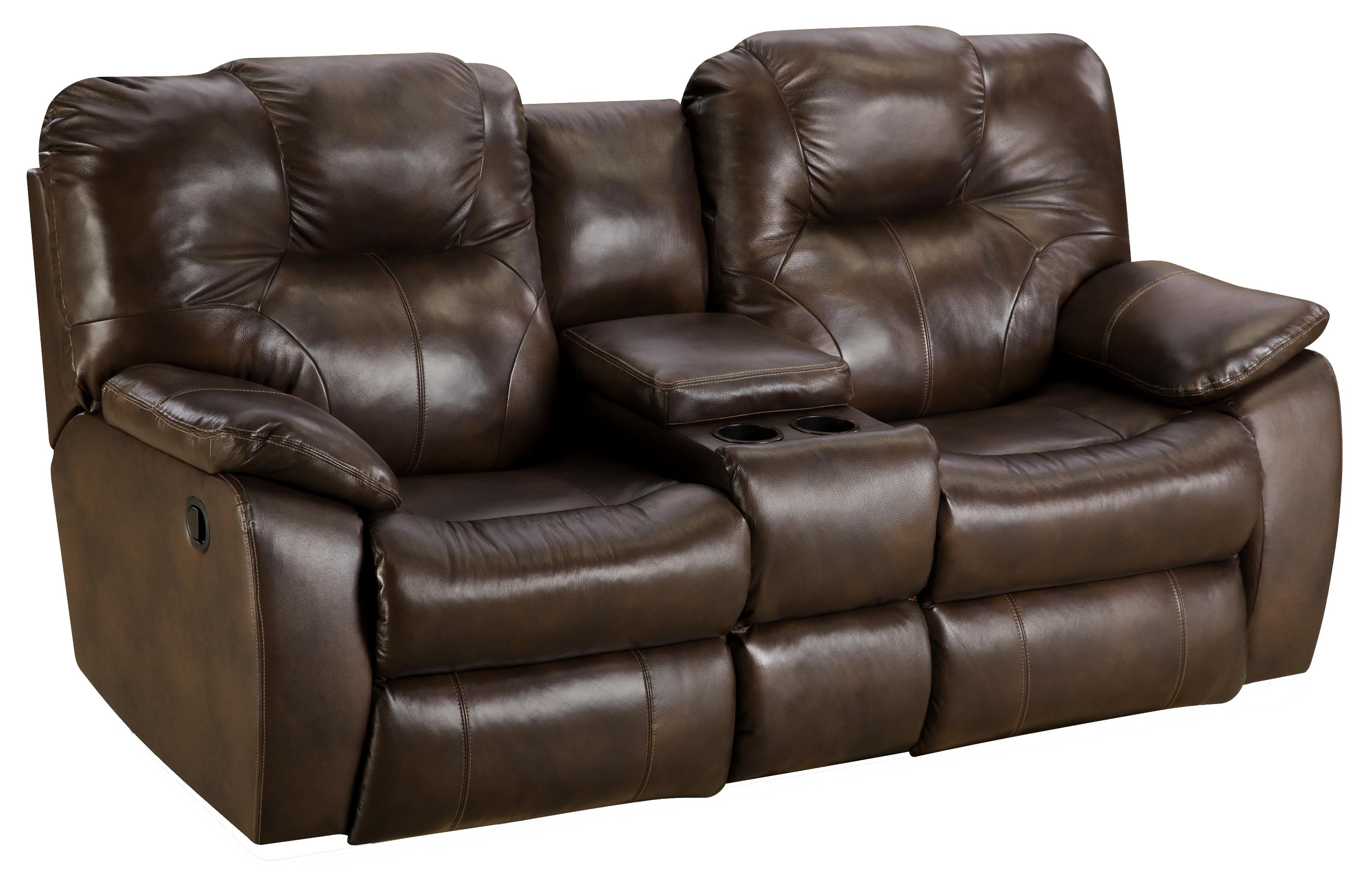 Power reclining sofa with console by southern motion wolf and gardiner wolf furniture Power loveseat recliner