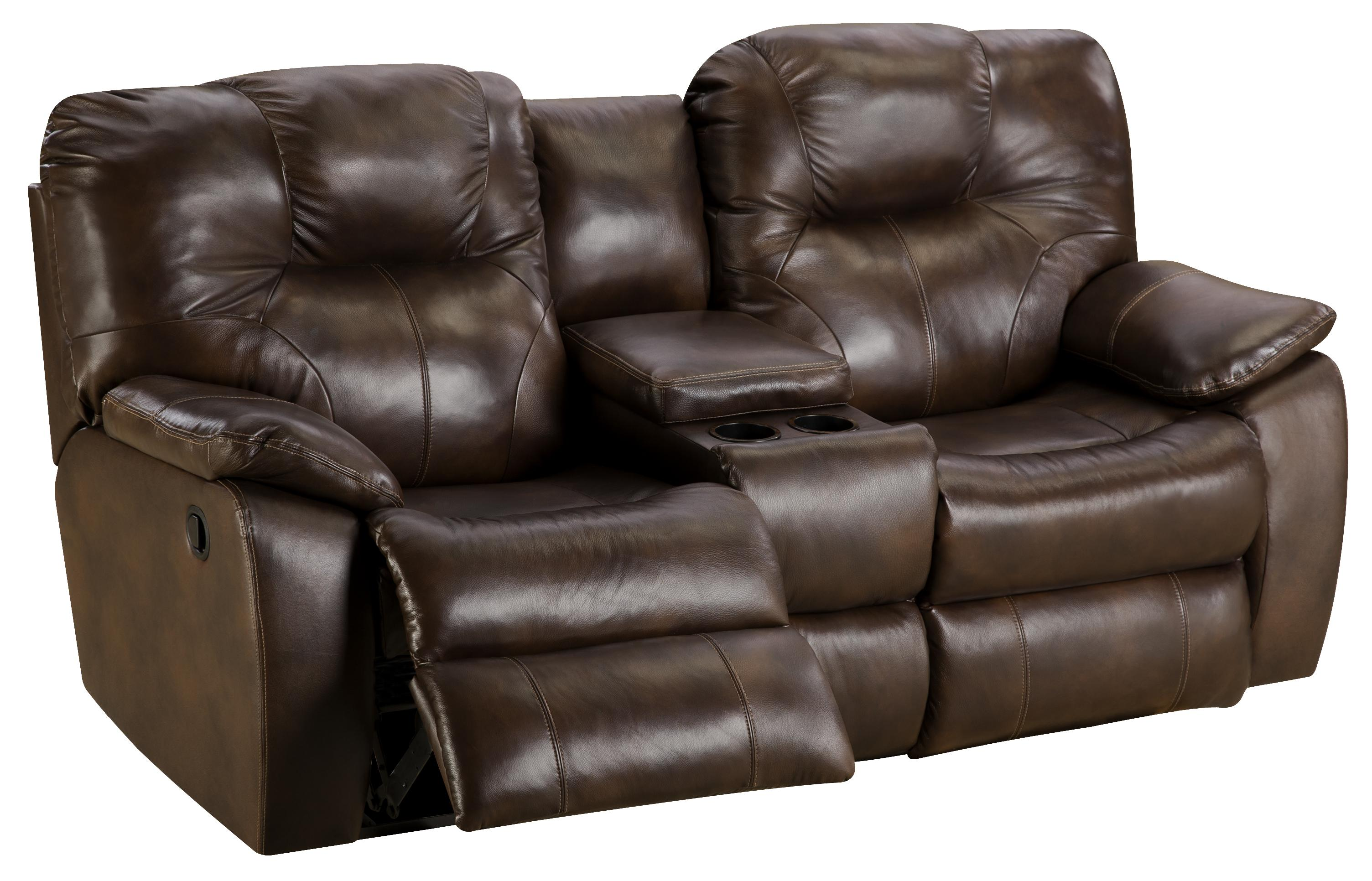 Power Reclining Sofa with Console by Southern Motion