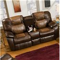 Southern Motion Avalon Power Reclining Sofa with Console - Sofa Shown May Not Represent Exact Features Indicated