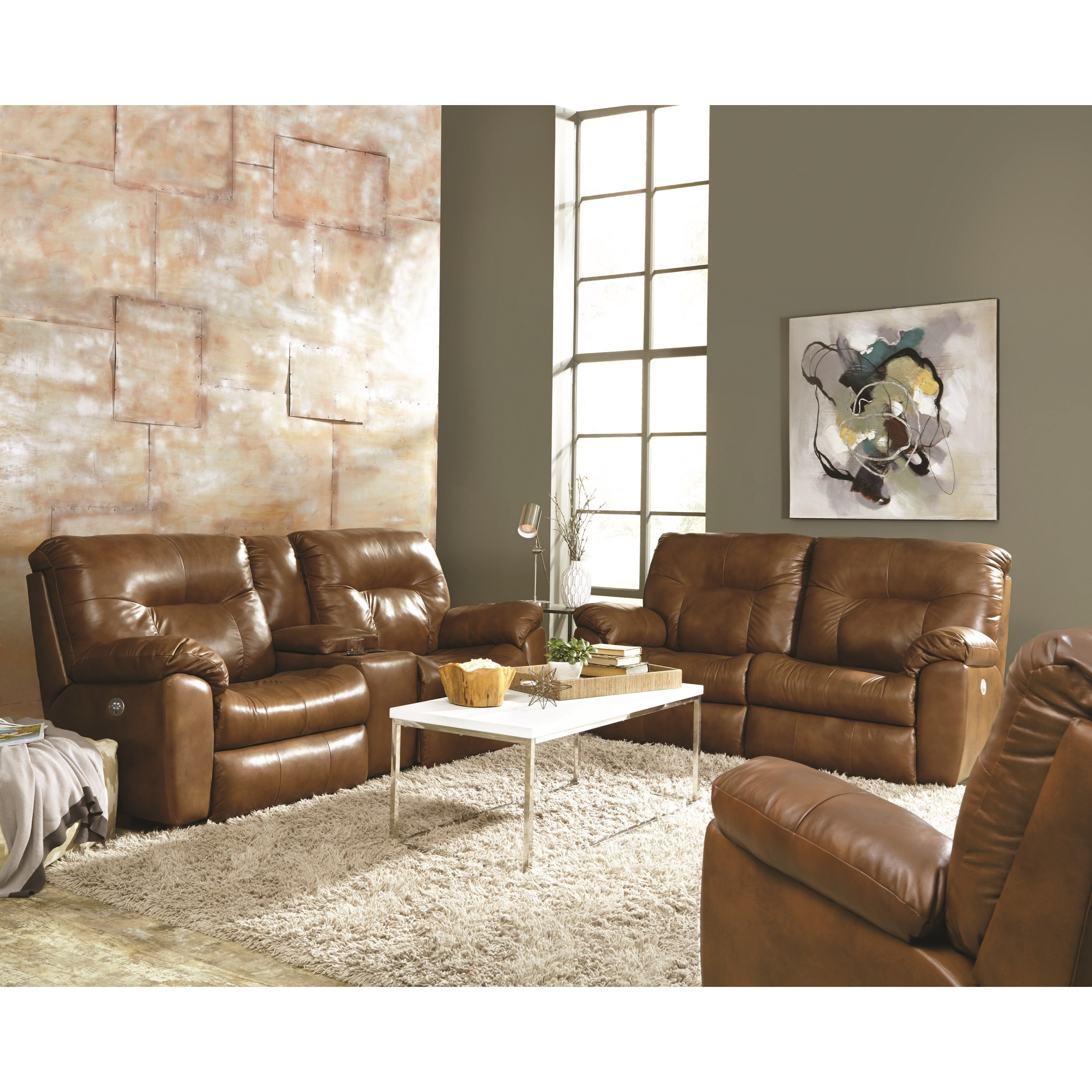 Double Reclining Sofa with Two Seats by Southern Motion
