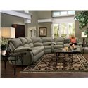 Southern Motion Cagney Comfy and Convenient Console Sofa with Reclining Chairs and Cup-Holders - Shown as Modular Component in Sectional Sofa Configuration