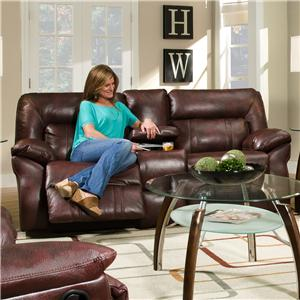 Southern Motion Cosmo  Double Reclining Console Sofa