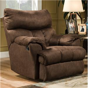 casual styled rocker recliner for soft living room comfort