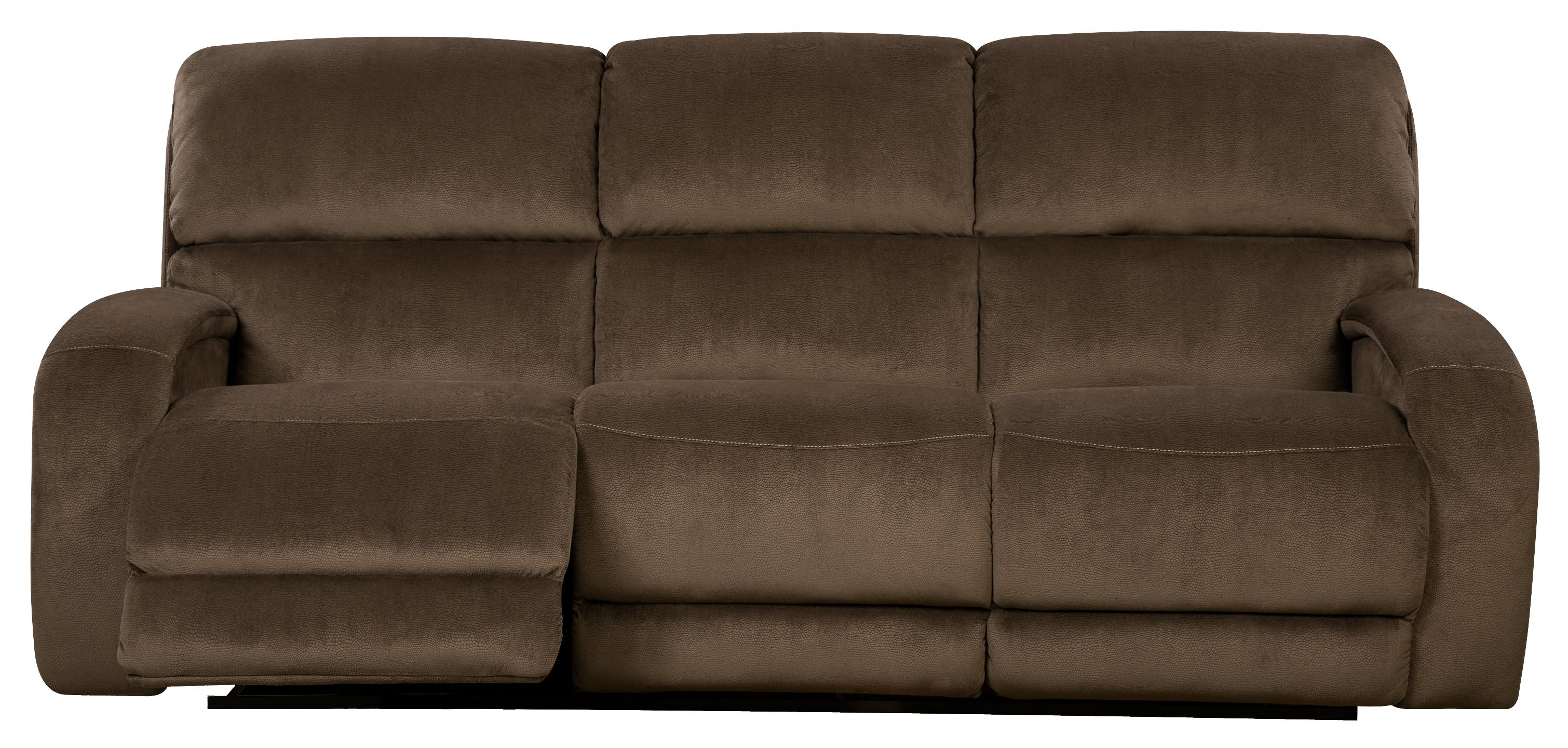 Power Reclining Sofa With Casual Style For Family Rooms By