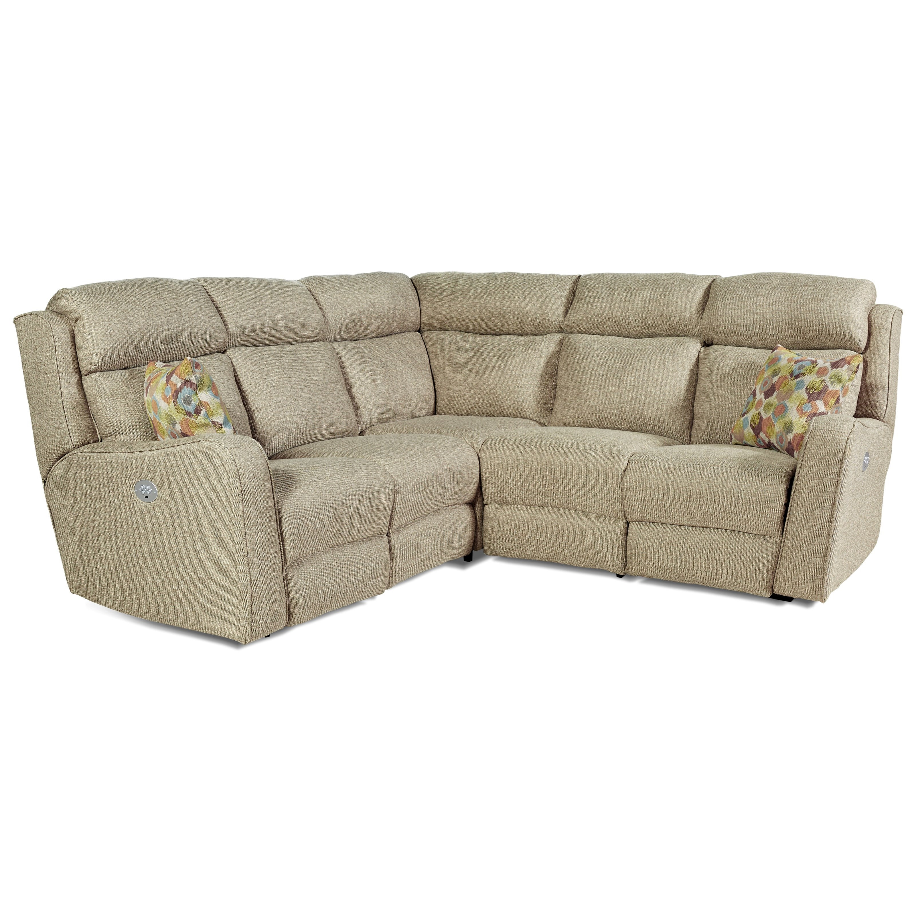 Power Reclining Sectional Sofa with 4 Seats by Southern Motion