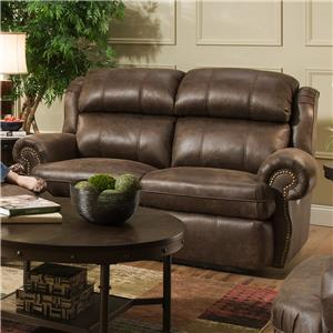 Southern Motion Forum Double Rec. Loveseat with Power Headrests