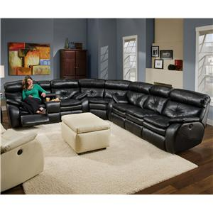 Southern Motion Jitterbug Reclining Sofa Sectional