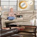 Southern Motion Jitterbug Reclining Console Sofa - Sofa Shown May Not Represent Exact Features Indicated