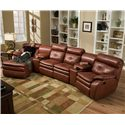 Southern Motion Jitterbug Four Seat Sectional - Item Number: 805-89+2x45+94+08