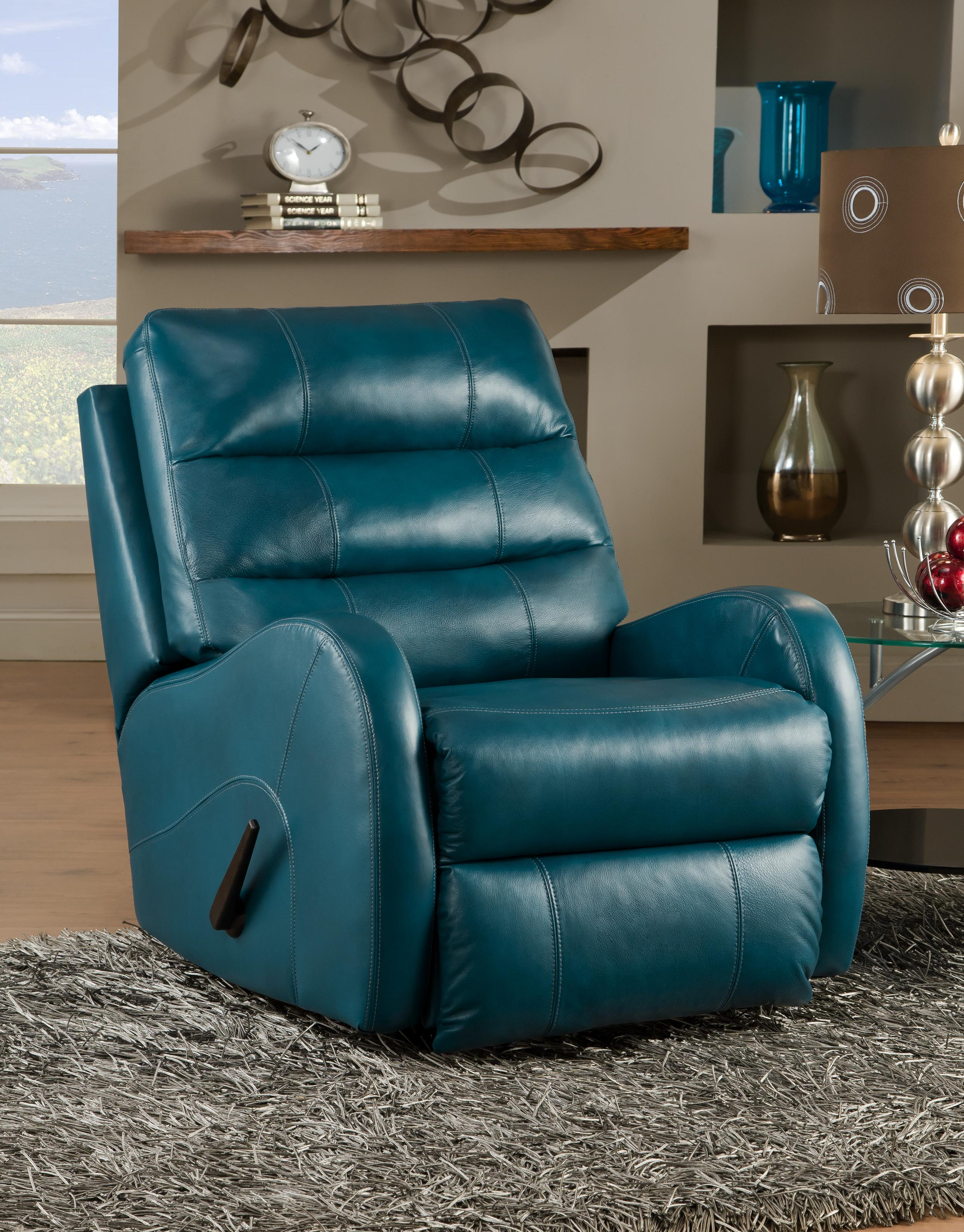 Rocker recliner with modern style by southern motion wolf and gardiner wolf furniture - Stylish rocker recliner ...