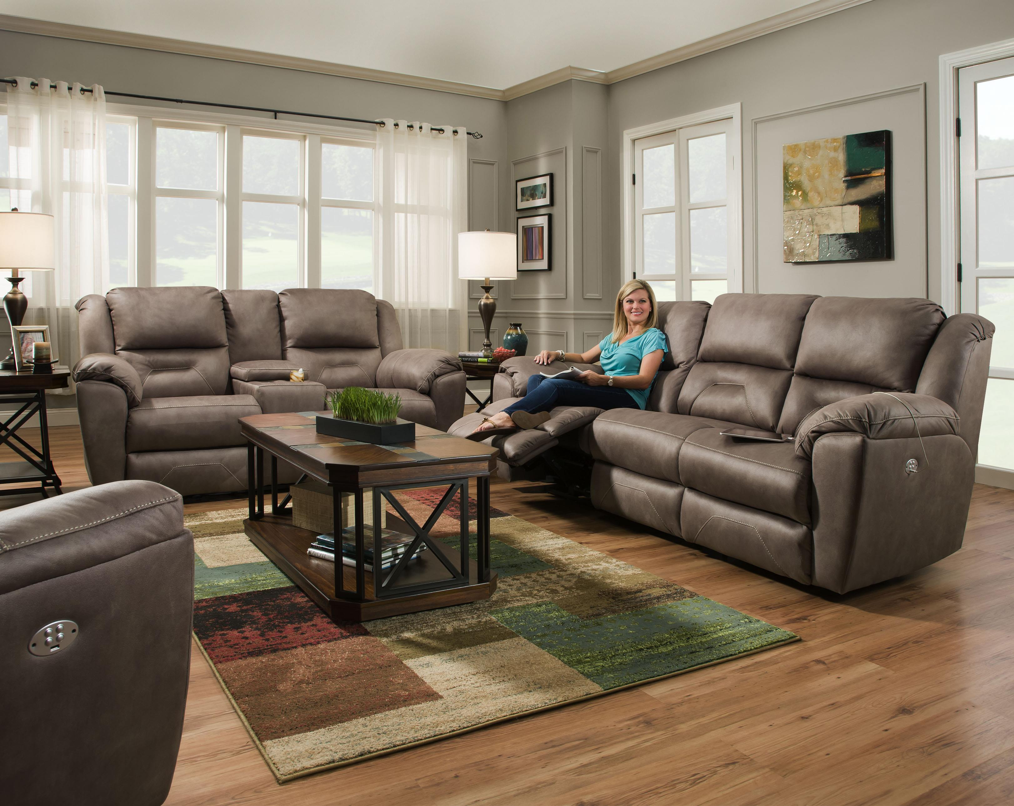 Reclining Sofa With 2 Seats That Recline And Power Headrests