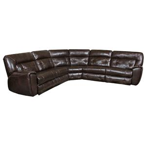 Southern Motion Regency Reclining Sectional with 2 Reclining Seats