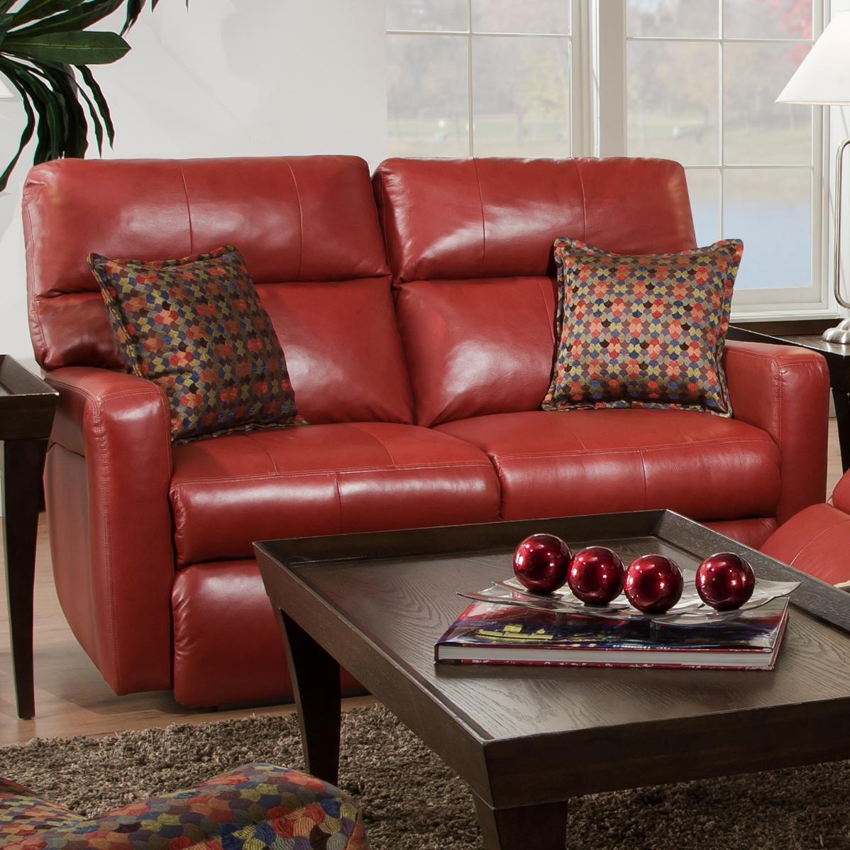 Power Reclining Loveseat For Contemporary Family Rooms By Southern  ~ Red Leather Power Reclining Sofa